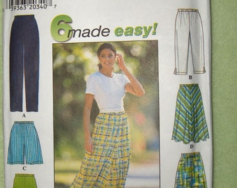 Simplicity 7655 Womens Skirt, Pants, Shorts, Capris pattern