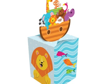 Box of 48 Noah's Ark Baby Shower Favor Boxes ~  Great Value! So Cute!
