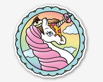 Junk Food Unicorn - Sticker
