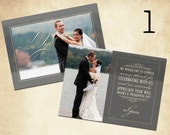 Custom Wedding Thank You Cards with Picture