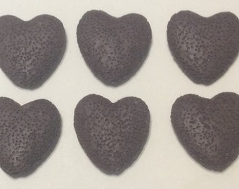 Brown Lava Rock lot Of Six Jewelry Making Crafting