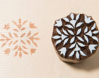 Floral Pattern 232, wooden printing block