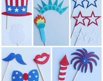 Independence Day 4th of July Party ; Fourth of July Photo Booth Props ; President Photo Props ; July 4th Photo Props ; Memorial Day