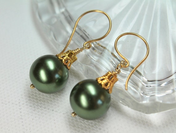 Christmas earrings holiday jewelry ball ornament large