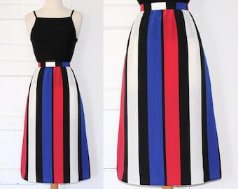 80s Sassoon high-waist colorblock skirt - medium or large