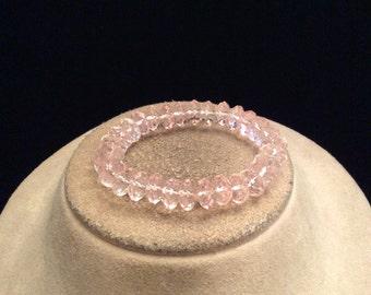 Vintage Pale Pink Beaded Bracelet