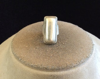 Vintage Sterling Silver Wide Chunky Ring Sz. 5