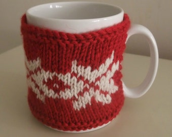 Knitting Pattern for Nordic Mug Hug