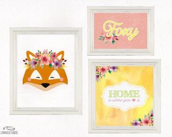 Fox's Home - Children's Room Print Set