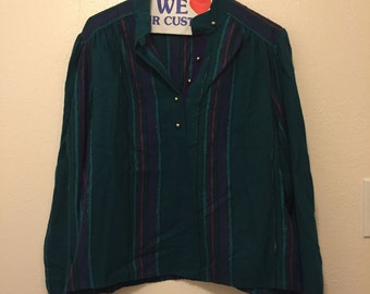 Vintage Long Sleeve Striped Shirt