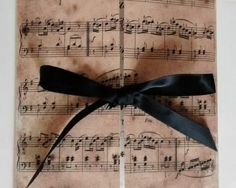 "Music wedding invitation,""Claudia"" invitation"