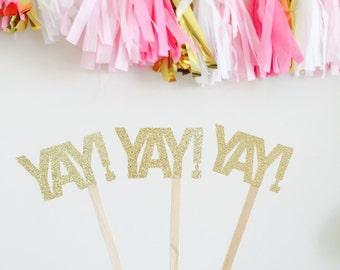 YAY!- drink stir sticks (10 per order)