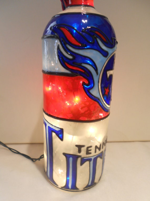 Tennessee Titans Hand-Painted Glass Nightlight