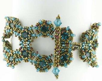 Beading Tutorial - Honeycomb Bracelet