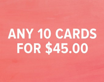 Greeting Cards Bulk Buy |  10 Individual Cards  |  Assorted Designs