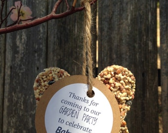 30 personalized bird feeder favors