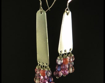 Swarovski cristal and Sterling Silver earrings.
