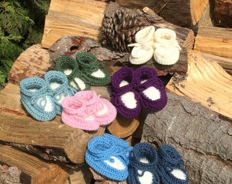 Baby Booties-Shearling Booties-Sheepskin Booties-Wool Booties