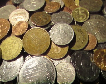 2 lbs. (2 pounds) of Bulk Foreign Coins (Great for collecting, school projects, or crafting.) ***FREE SHIPPING***
