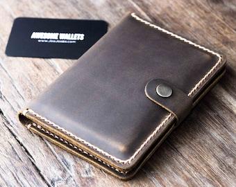 Passport Wallet, Leather Passport Wallet, travel wallet, passport case, leather passport holder, document wallet - Listing #021S