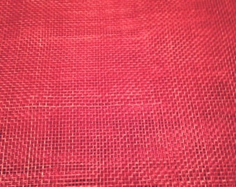 Sinamay Very Posh Red 15cm x 45cm Free p+p