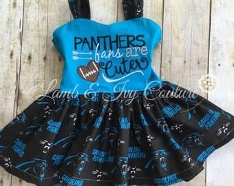 Carolina Panthers football dress with free shipping