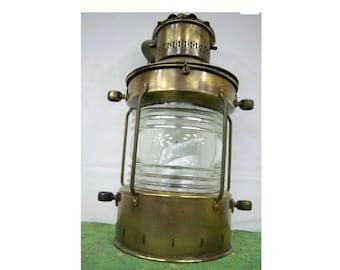 Ankerlicht Brass Lantern - Netherlands - Vintage Lantern with Light Bulb - 16-009