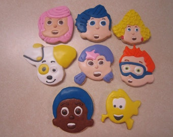 8 Bubble Guppies Fan Art Hand Decorated Cookies 1 dozen
