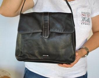 Vintage OTTO KERN leather shoulder bag ....(463)