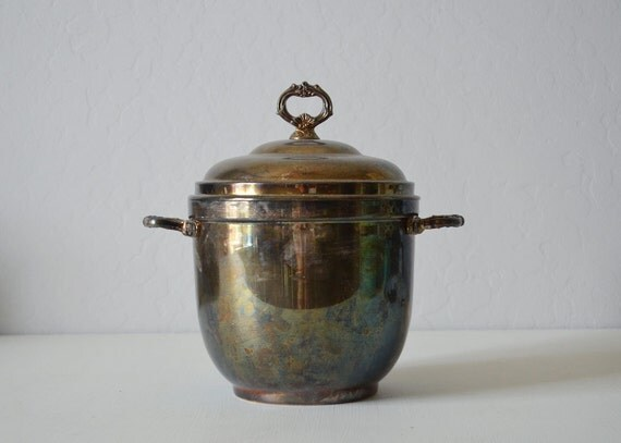 Vintge Ice Bucket - Silver Home Decor - Champagne Bucket - Silver Ice Bucket - Silver Dining Decor