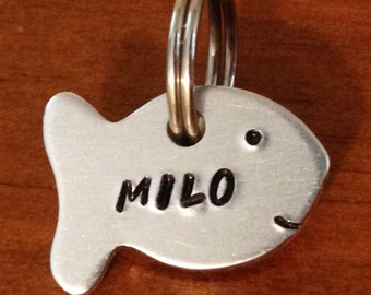 cat tag, small pet tag, cat id, small tag, fish tag, Pet id tag, small dog tag, custom dog tag, cat id tag, personalized id tag,
