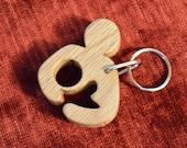 FREE US SHIPPING Hand Cut Wood Breastfeeding Awareness Keychain