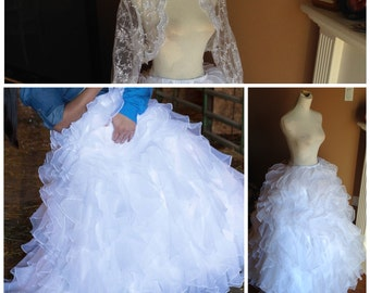 Cinderella wedding dress alternative bridal gown fairytale for Wedding dress skirt only