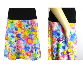 Jersey skirt in form of an A with Pocket