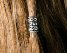 The Durn Kit SILVER color viking beard bead biker beard bead Celtic beard bead