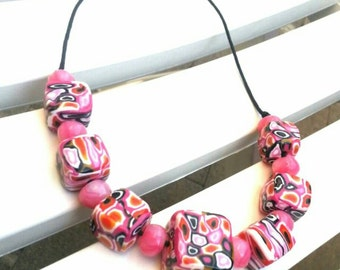 Cubic piece handmade necklace