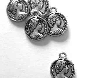 Antique coin charms
