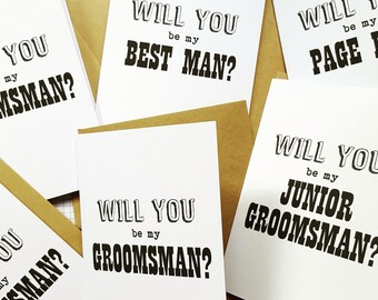 Will you be my Groomsman / Best Man Card- C35a