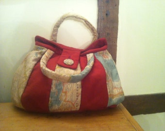 Ladies patched handbag