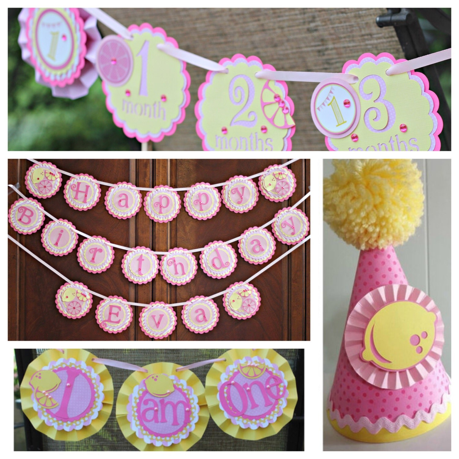 Girl / First Birthday Pink Lemonade Party Decorations