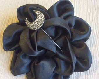 Vintage Jewelry Art Deco, Hat Pin or Stickpin Marcisites-Half Moon Victorian StickPin-Estate Jewelry_Victorian Jewelry