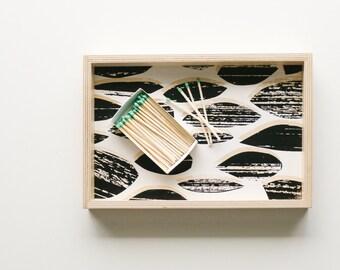 Vanity Tray - Modern Kitchen Decor - Wood Serving Tray - Black and White Breakfast Tray - Desk Tray - Scandinavian Home Decor - Bed Tray