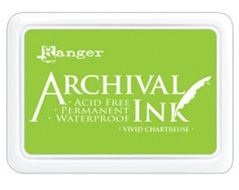 New! VIVID CHARTREUSE Archival Ink Pad by Ranger - Summer 2016