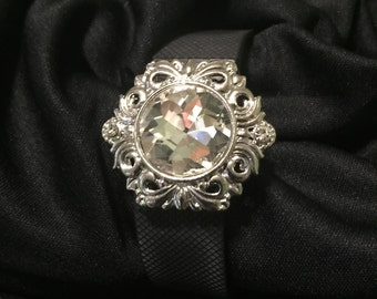 Large Rhinestone Sunburst fitbit Flex or Charge Bling Bracelet Cover ** FREE SHIPPING within the U.S.**