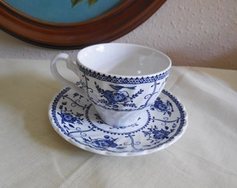 JOHNSON BROS IRONSTONE Indies Pattern Cup and Saucer vl team