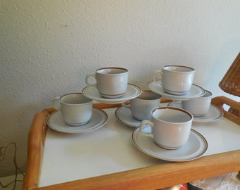 MSI COLONIAL STONEWARE Japan Cups and Saucers
