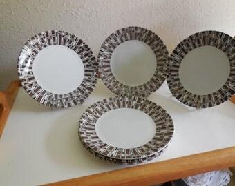 Brrad plates RIDGWAY IRONSTONE made in ENGLAND