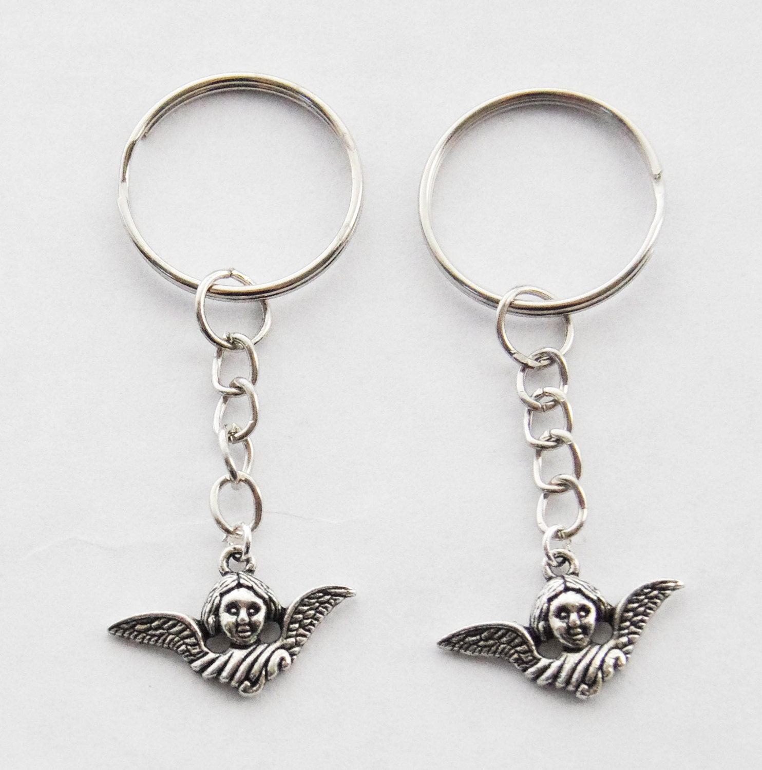 2 Angel Keychains 2 Keychain Set Sister Gifts Memorial Keychain