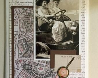 Best friends greeting card, handmade, Victorian, Edwardian, whimsical, blank inside