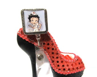 Betty Boop Nurse ID Badge Holder